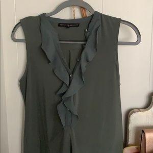 White House Black Market sleeveless ruffle blouse
